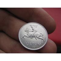 Литва 2 центов 1991 года