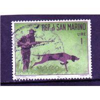 Сан-Марино.Ми-739. Охота. Собака. 1962.