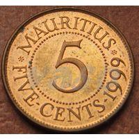 5427:  5 центов 1999 Маврикий