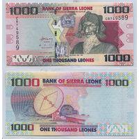 "Распродажа коллекции. Сьерра-Леоне. 1 000 леоне 2010 года (P-30а - 2010 - 2020 ""Reduced Size"" Issue)"