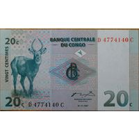 Конго. 20 сантимов 1997 года, P83a