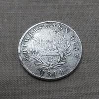 Великобритания, частный токен шиллинг 1811 г., серебро