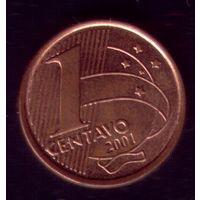 1 сентаво 2001 год Бразилия 2