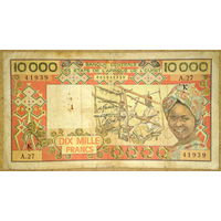 Сенегал 10000франков 1977г P.709K j.