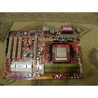 Материнка нераб K9N Neo + процессор AMD 64