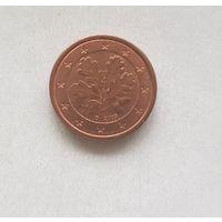 1 евроцент 2005 Германия D