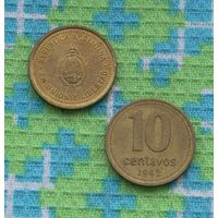 Аргентина 10 сентаво 1992 года. Подписывайтесь! Много новых лотов в продаже!!!