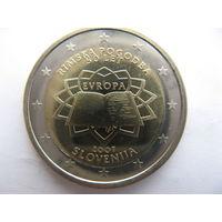 Словения 2 евро 2007 г. 50 лет подписания Римского договора. (юбилейная) UNC!