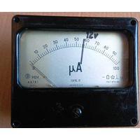 Миллиамперметр (головка измерительная) М24 (0-100). Доработан до вольтметра, но можно вернуть первоначальное состояние.
