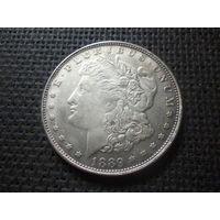 США 1 ДОЛЛАР МОРГАНА 1889 г. СС