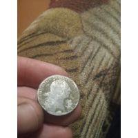 Монета Фридриха Пруссия 1765г. Серебро