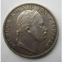 Пруссия. 1 союзный талер 1866 А. Победа в Австро-прусско-итальянской войне. 10Е-24