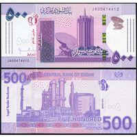 Судан 500 фунтов 2019 года UNC