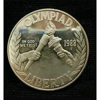 США 1 доллар 1988 S. Олимпиада в Сеуле. С рубля
