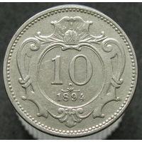 Австрия 10 геллеров 1894