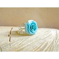 Кольцо ручной работы с розой