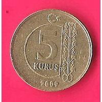 47-37 Турция, 5 куруш 2009 г.