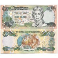 Багамские острова(Багамы) 1/2 доллара образца 2001 года UNC p68
