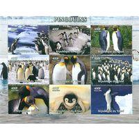Пингвины Птицы Фауна Моря 2004 Чад MNH полная серия 9 м зуб лист лот РАСПРОДАЖА