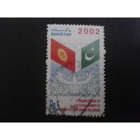Пакистан 2002 Флаги, совм. выпуск с Киргизией