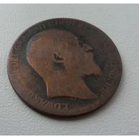 1/2 пенни Великобритания 1904 г.в.,KM# 793.2, 1/2 PENNY, РЕДКАЯ, из коллекции