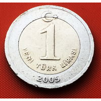 117-08 Турция, 1 лира 2005 г.