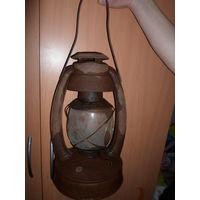 Старинная керосиновая лампа KVELI Rige стекло бонусом торг обмен на монеты