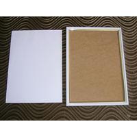 Рамка деревянная белая А4