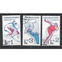 XIII зимние Олимпийские игры в Лейк-Плэсиде Чехословакия 1980 год серия из 3-х марок