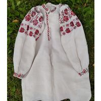 Сорочка льняная домотканая (рубашка, вышиванка), 1920-е гг.