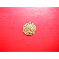 Легионный Динарий. Гета (211-212 гг. н.э.) с портретом Каракаллы. Редкость.