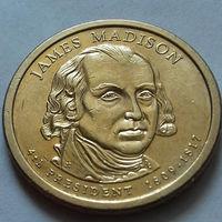 1 доллар США, 4-й президент Дж. Мэдисон
