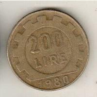 Италия 200 лира 1980