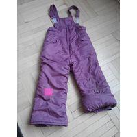 Штаны на лямках зимние 92-98, полукомбинезон, комбинезон