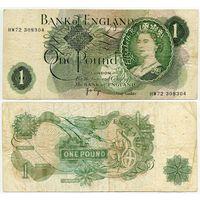 Великобритания. 1 фунт (образца 1970 года, P374g, подпись Page)