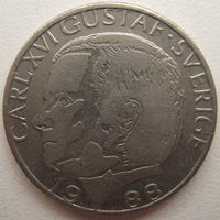 Швеция 1 крона 1988 г.