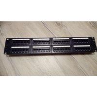 Патч-панель TWT TWT-PP48UTP 48 портов, UTP, кат.5E, 2U