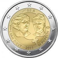 Бельгия, 2 евро (100 лет Международному женскому дню),2011