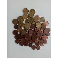 Евроценты, разные годы.  набор 80 шт