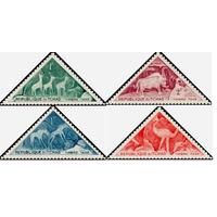 Чад 1962 Фауна Антилопы Птицы Рисунки **