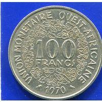 Западная Африка 100 франков 1970