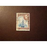 Бермудские острова 1938/43 гг. Георг VI.Гавань Гамильтон .