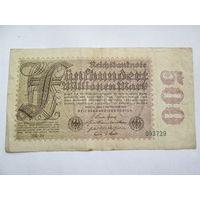 ГЕРМАНИЯ  500 миллионов  МАРОК 1923 ГОД