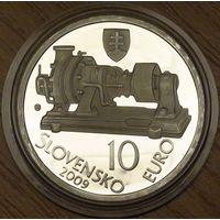 10 евро 2009г. 150-летие Ауреля Стодолы.