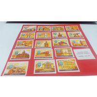 Спичечные этикетки набор 1989 год серия из 18 этик.  Обоянь. 350 лет городу    (цена за все)