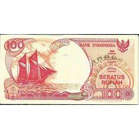Индонезия 100 рупий 1992 (выпуск 1999-2000) года ПРЕСС UNC