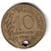 Франция. 10 сантимов. 1981 г.