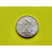 Словакия. 20 геллеров 2001.