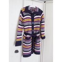 В подарок к купленной одежде от 20р.  Уютный мягкий кардиган веселой расцветки Р-р 46