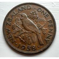Новая Зеландия 1 пенни, 1958  2-7-3